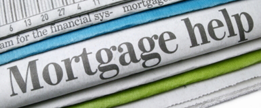 Newspaper saying Mortgage in big letters
